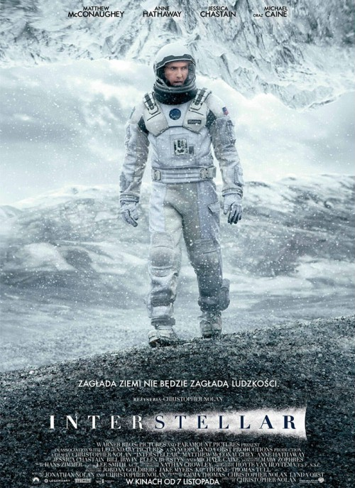 Plakat z filmu 'Interstellar'